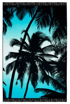 Abiichi Palm Beach Towel with Pocket Zipper