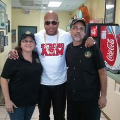 Franky, Nanette and Flo Rida at Franky's Deli Warehouse  6/6/2013