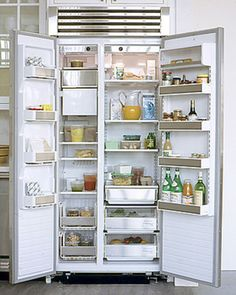 Clean Your Refrigerator | Martha Stewart Living - A clean refrigerator keeps food fresher. Wipe the inside of the refrigerator with a mixture of two tablespoons baking soda and one quart hot water. Rinse with a damp cloth, then dry with a clean towel. Vacuum the coils to remove dust and buildup.