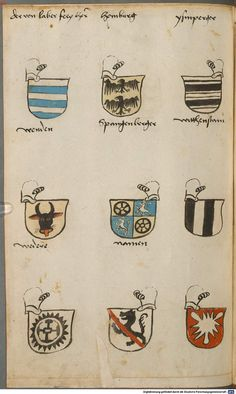 Wappen besonders von deutschen Geschlechtern Süddeutschland ?, 1475 - 1560 Cod.icon. 309  Folio 56v