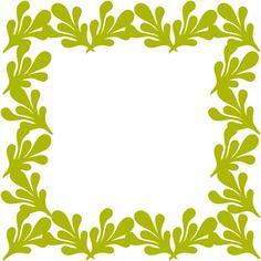 Silhouette Design Store - View Design #10532: fern square border frame