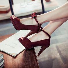 a887a18aede FSJshoes - #FSJ Shoes Women's Plum Cross Strappy Open Toe Stiletto ...