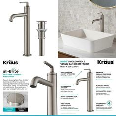 Ramus Single Hole Single-Handle Vessel Bathroom Faucet with Matching Pop-Up Drain in Spot Free Stainless Steel Ramus Single Hole Single-Handle Vessel Bathroom Faucet with Matching Pop-Up Drain in Spot Free Stainless Steel *We do not ship to PO-BOX, US Protectorates, Alaska & Hawaii* Suitable for an endless range of projects, Ramus vessel faucets have a […] Vessel Faucets, Bathroom Faucets, Bicycles For Sale, Splash Free, Faucet Handles, Water Conservation, Pop Up, Alaska, Hawaii