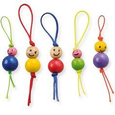 Winkler Iskolaszer - New Ideas Beaded Crafts, Wire Crafts, Fun Crafts, Diy And Crafts, Arts And Crafts, Wooden Bead Necklaces, Wooden Beads, Diy For Kids, Crafts For Kids