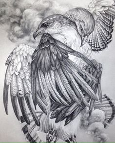 Drawing by Christina Mrozik Bird Drawings, Animal Drawings, Pencil Drawings, Tattoo Sketches, Drawing Sketches, Flor Tattoo, Vogel Tattoo, Native Tattoos, Mother Nature Tattoos
