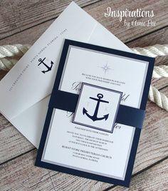 Invitations nautiques marine Invitations par InspirationsbyAmieLe