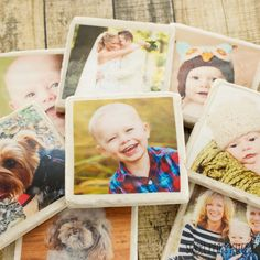 DIY Photo Tile Coasters | From: sweetpeaskitchen.com