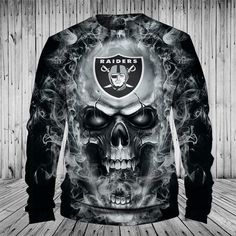 NFL Hoodies Skull Oakland Raiders Hoodie Sweatshirt Zip Up Pullover Oakland Raiders Sweatshirt, Raiders Hoodie, Oakland Raiders Football, Dallas Cowboys, Pittsburgh Steelers, Raiders Baby, Indianapolis Colts, Cincinnati Reds, Hoodie Sweatshirts