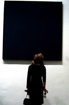 via tamburina - Burt Glinn, Ad Reinhardt painting at the MoMa, N Y C, 1964