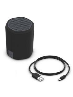 Kitsound Hive2O Waterproof Bluetooth Speaker - Black - Black - Passive Radiator, Waterproof Bluetooth Speaker, 8 Hours, Seaside, Juice, Shower, Running, Fun, Black