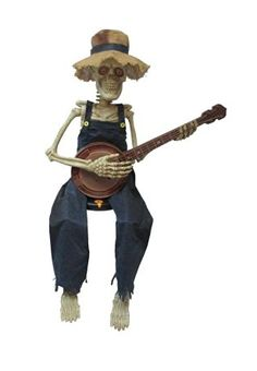 Let this skeleton serenade you this Halloween. Awooo! Halloween Decoration Ideas