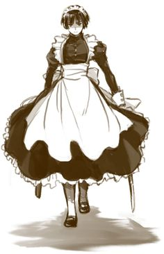You've just pissed off Maid Japan.You better run.<<he looks pretty :3