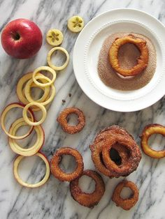 Fried Cinnamon Apple Rings | fortune goodies