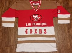 San Francisco 49ers Starter Hockey Jersey Sweatshirt NFL Vintage Rare Mens M Hat