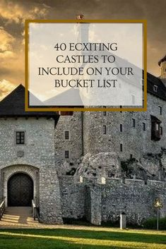 40 ECXITING CASTLES TO INCLUDE ON YOUR BUCKET LIST #ecxitingcastlesinclude Architecture Old, Castles, Bucket, The Incredibles, Exterior, Tours, Mansions, House Styles, Places