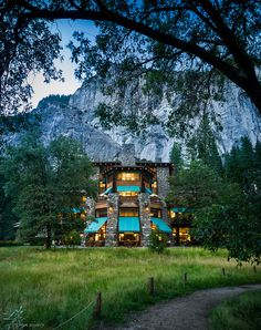 The Ahwahnee Hotel, Yosemite Nat'l Park, California--I worked here almost a year.  Beautiful