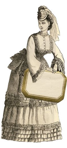 besottment by paper relics: Free Download: 1800's Fashion Girl