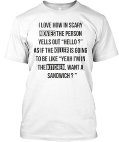 Limited Edition Scary Movie T-Shirt http://teespring.com/scarymovie Do you love scary movies? Then you'll love this scary movie t-shirt! Get your order in now because it's only available to order for 12 days, ending on January 19.