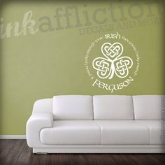 Custom Irish Quote Wall Decal LARGE X By Inkaffliction - Nursery wall decals ireland