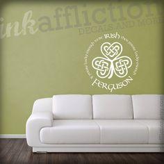 Custom Irish Quote Wall Decal LARGE X By Inkaffliction - Nursery wall decals ireland