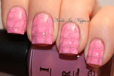 Nails In Nippon: Pink Alligator Skin