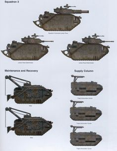 Death Korps, 7th Tank Regiment, 3rd Squadron and Maintenance, supply