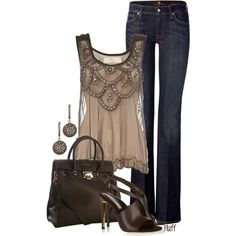 A fashion look from July 2012 featuring Dorothy Perkins tops, 7 For All Mankind jeans and STELLA McCARTNEY sandals. Browse and shop related looks.
