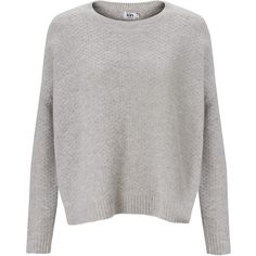 Kin by John Lewis Tuck Stitch Jumper (35 CAD) ❤ liked on Polyvore featuring tops, sweaters, jumpers, long sleeves, light grey marl, slouchy sweater, slouchy tops, jumper top, stitch sweater and long sleeve jumper
