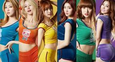 Hellovenus.  It seemed a tad unfair to only show Alice and Nara in their Wiggle outfits, so here is all of them. AMx
