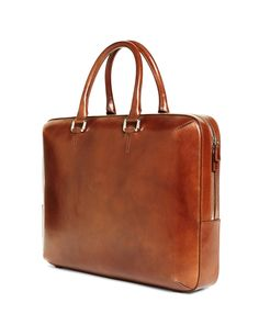 Our cognac briefcase is crafted from pure burnished leather with a zip closure and internal pockets. Leather Laptop Bag, Leather Briefcase, Briefcase For Men, Tie Shoes, Leather Bags Handmade, Brooks Brothers, Leather Working, Fendi, Messenger Bag