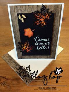 Atelier créatif pour cartes de vœux, carterie et projets utilisant encre et papier - produits Stampin'Up! Halloween Cards, Holidays Halloween, Cute Cards, Diy Cards, Scrapbooking, Scrapbook Cards, Leaf Cards, Thanksgiving Cards, Fall Cards