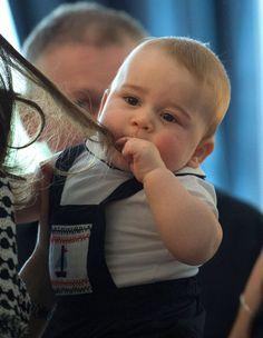 Prince George loves Kate's hair, too.