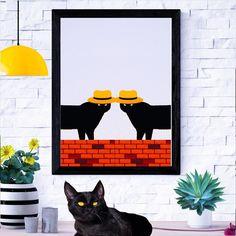 "CAT ME IF YOU CAN on Instagram: ""🐈 Haiku  Odd eyes hypnotize Stalking silent in the night The cat hunts alone . . . . . #catportrait #catofday #catcatwalk #catoftheworld…"" Cat Decor, Hunts, Cat Walk, Cat Drawing, Haiku, Design Art, Batman, Canning, Superhero"
