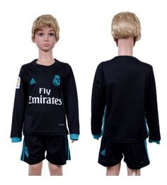 Real Madrid Bortaställ Barn 17-18 Långärmad Real Madrid, Gareth Bale, Ronaldo, 18th, Graphic Sweatshirt, Sweatshirts, Sweaters, Fashion, Moda