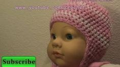 crochet baby hat - YouTube