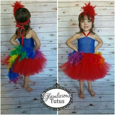 Parrot Tutu Dress Feather tutu dress by GlamliciousTutus on Etsy