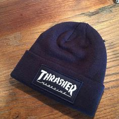a23ad8100a3 Thrasher Knit Beanie With Patch Logo