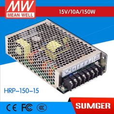 62.03$  Watch here - [MEAN WELL1] original HRP-150-15 15V 10A meanwell HRP-150 15V 150W Single Output with PFC Function  Power Supply  #magazineonlinewebsite