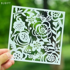 Stencils for DIY Scrapbooking Painting Gift Card Photo Album Cake Template Flowers Crafts Scrapbooking Tool Accessories 13 cm