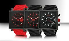 Groupon - Red Line Compressor 2 Square-Case Men's Watches. Multiple Styles Available. Free Returns. in Online Deal. Groupon deal price: $59.99