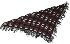 Vintage Shawl Boho Hippie Crochet Knit Leather Patchwork Fringe Wrap Poncho Cape #VintageUnbrandedLooksHandmade #ShawlWrapOpenPonchoCape #CasualEverydayFallWinter