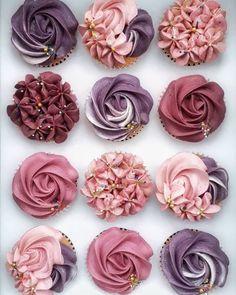 Elegant Cupcakes, Fancy Cupcakes, Pretty Cupcakes, Beautiful Cupcakes, Sweet 16 Cupcakes, Deco Cupcake, Cupcake Cake Designs, Cupcake Images, Cupcake Piping