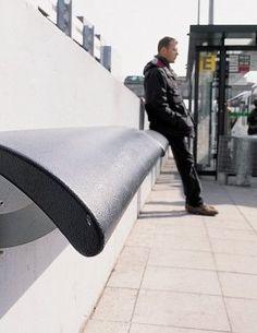 Standing seat Composite Europe composite - Concept Urbain - Fabricant de mobilier urbain – Street furniture manufacturer