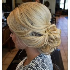 soft bridal updo ~ we ❤ this! moncheribridals.com #softweddingupdo