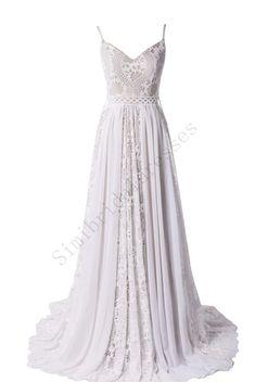 White Bridal Dresses, Lace Beach Wedding Dress, Wedding Dress Train, Stunning Wedding Dresses, Sweetheart Wedding Dress, Bohemian Wedding Dresses, Long Wedding Dresses, Cheap Wedding Dress, Bridal Lace