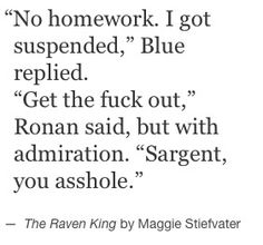 The Raven Cycle - Blue Sargent - Ronan Lynch