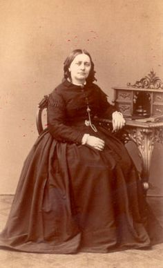 Clara Schumann at the age of 47 Photography, around 1866