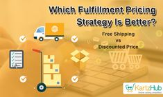 It's a common confusion among sellers - whether to offer discounts or free shipping?  You can work in two ways for fulfillment strategy prices. Either you provide discounts on product pricing and charge for shipping. Or you can offer free shipping and increase the product price to cover the Fulfillment Strategy costs. Online Sales, Selling Online, Confusion, Factors, Online Marketing, Good Things, Seasons, Free Shipping, Digital