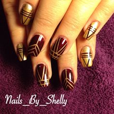 nails_by_shelly's photo on Instagram - Great Gatsby Nails