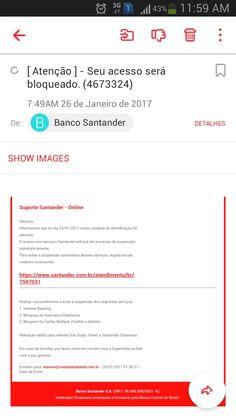 Não tenho conta no Santander #spam #fail é golpe